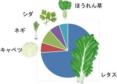 野菜別食中毒事件数円グラフ